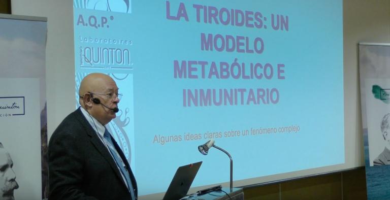 Dr. Marco Paya y su ponencia sobre la Tiroides en el Seminario de Terapia Marina de Granada