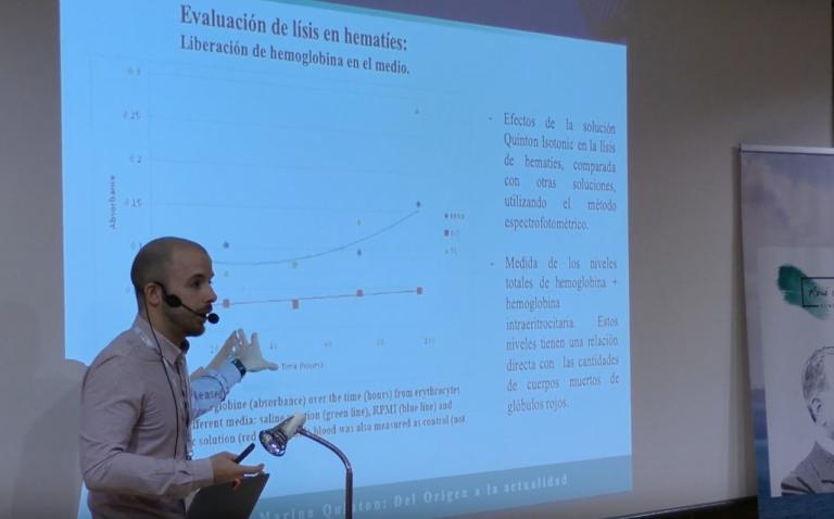 Guillermo Gosálbez en el Seminario Terapia Marina de Granada 2019