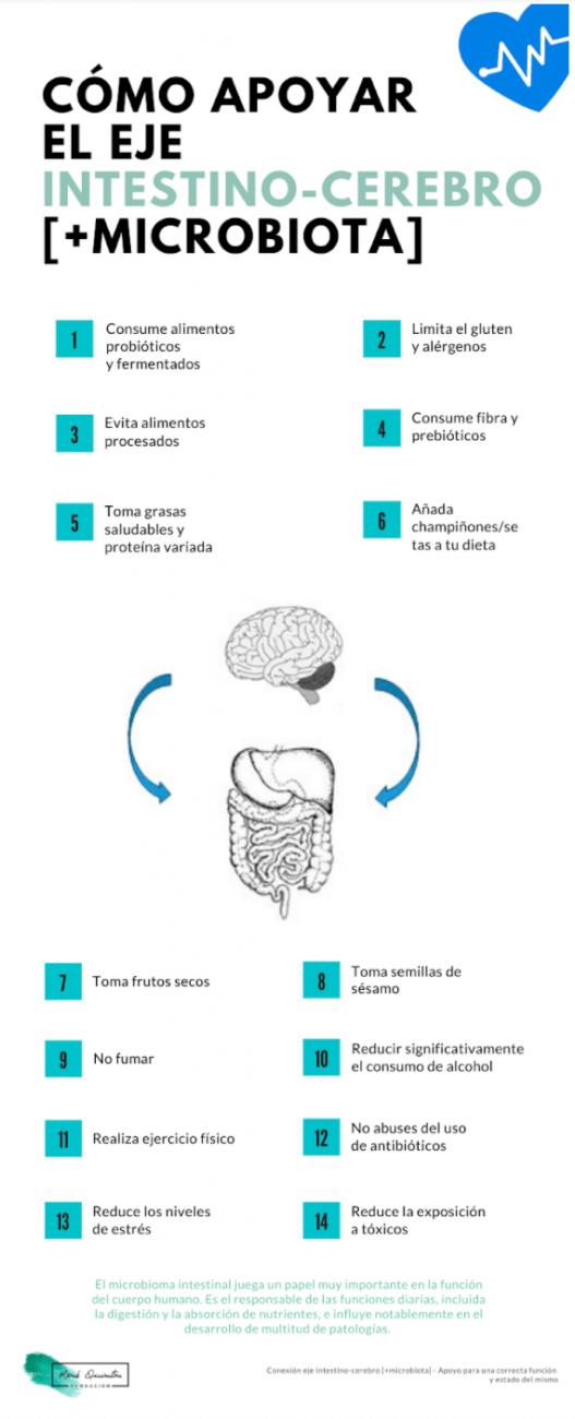 eje intestino cerebro infografia