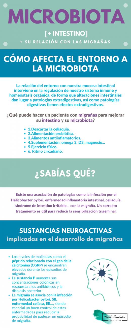 migraña intestino microbiota